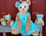 "Thaddeus - 8"" Hand Dyed Mohair, Alpaca and Viscose Artist Bear by Emma's Bears - OOAK"