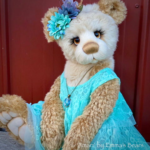"Amari - 24"" Mohair, Alpaca and Faux Fur Artist Bear by Emma's Bears - OOAK"