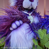 Professor Plum - 15IN faux fur bear by Emmas Bears - OOAK