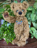 "Collaboration Bear: Harrison - 13"" handmade mohair artist bear- OOAK"