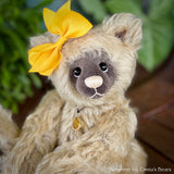 "Collaboration Bear: Sunshine - 9"" handmade mohair artist bear- OOAK"