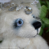 "Collaboration Bear: Arieve - 11"" handmade mohair artist bear- OOAK"