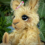"Collaboration Bear: Mum and Bub - 8"" handmade mohair artist kangaroo - OOAK"
