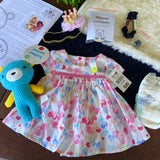 "KIT - 18"" Reborn style Baby Panda in curly kid mohair - HEART DRESS outfit"