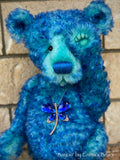 "KIT - 17"" BAYOU bear in curly tipped kid mohair"