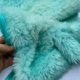 Long Alpaca - Tie Dyed Turquoise - Oversized 1/8m - MAR019