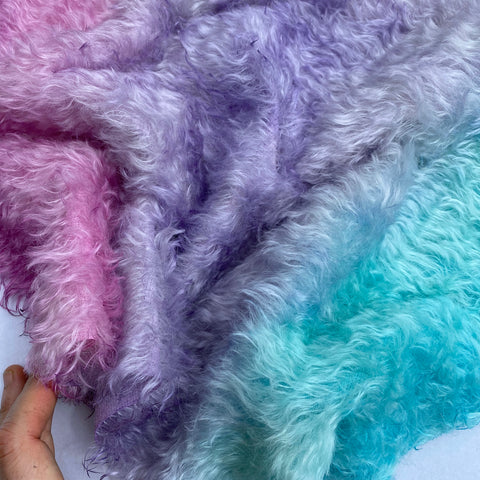 Bianca Mohair - Hand Dyed Sunset Clouds - Fat 1/8m - MAR009
