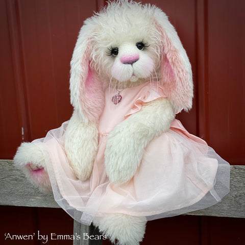 "Anwen - 20"" Mohair and Alpaca Toddler Artist Bunny by Emma's Bears - OOAK"