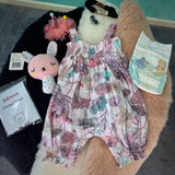 "KIT - 18"" Reborn style Baby Alpaca Bear - with floral romper"