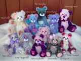 "Miss Violet - 12"" Mohair and Alpaca Artist Bear by Emma's Bears - OOAK"