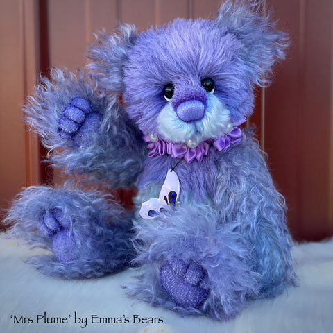 "Mrs Plume - 12"" Mohair and Alpaca Artist Bear by Emma's Bears - OOAK"