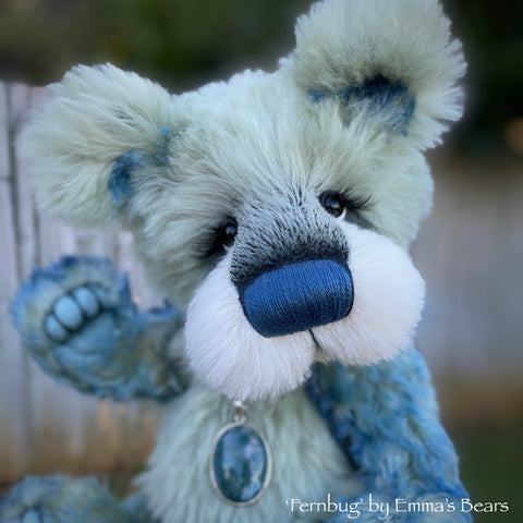 "Fernbug - 11"" Mohair and Alpaca artist bear by Emma's Bears - OOAK"
