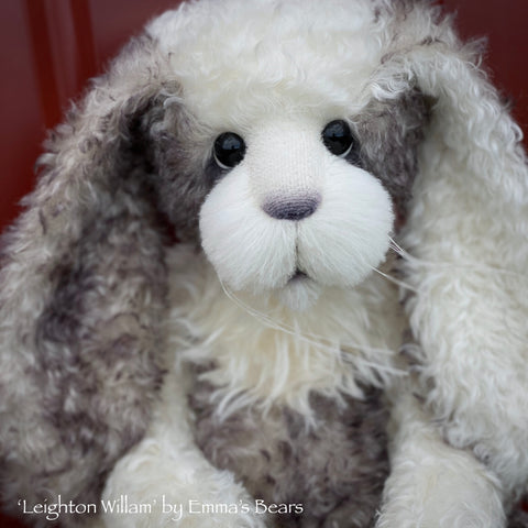 "Leighton Willam - 21"" Mohair and Alpaca Toddler Artist BUNNY by Emma's Bears - OOAK"