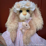 "Livvy Willow - 21"" Mohair and Alpaca Toddler Artist BUNNY by Emma's Bears - OOAK"