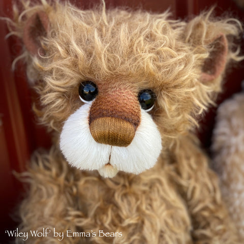 "Wiley Wolf - 21"" Mohair Toddler Artist Bear by Emma's Bears - OOAK"