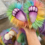 "KIT - 21"" BLISS Rainbow Faux Fur Bunny"