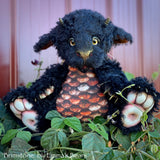 "Brimstone - 15"" kid mohair Artist Baby Dragon by Emmas Bears - OOAK"