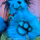 "Petani - 13"" faux fur Bear by Emmas Bears - OOAK"