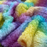 Curly Kid Mohair - Hand Dyed Rainbow - Fat 1/4m - JUL002
