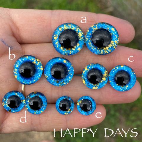 Hand Painted Eyes - Happy Days