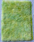 Long Alpaca - Hand Dyed Lime Dreams - Fat 1/8m - AUG064