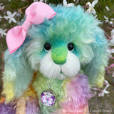 "Dahlia-Rose - 12"" Hand-Dyed Kid Mohair Bunny by Emma's Bears - CUSTOM OOAK"
