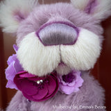 "Mulberry - 13"" Hand Dyed Alpaca Artist Bear by Emma's Bears - OOAK"