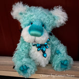 "Ocean - 11"" Hand Dyed Kid Mohair Artist Bear by Emma's Bears - OOAK"