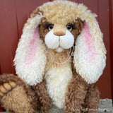 "Pippa - 21"" Kid Mohair Toddler Artist BUNNY by Emma's Bears - OOAK"