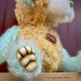 "Tic - 8"" Hand-Dyed Mohair and Alpaca Artist Bear by Emma's Bears - OOAK in a Limited Series"
