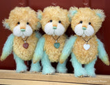 "Toe - 8"" Hand-Dyed Mohair and Alpaca Artist Bear by Emma's Bears - OOAK in a Limited Series"