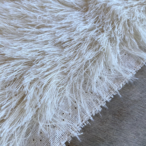 Long String Mohair - natural ivory white