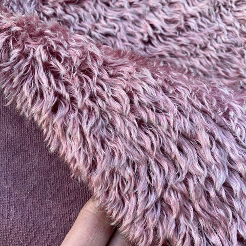 Penny Mohair/Viscose - Hand Dyed Dusky Rose - Fat 1/4m - SEP063