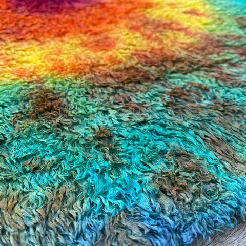 Textured Viscose - Hand Dyed Footsteps on the Moon - Fat 1/8m - SEP048