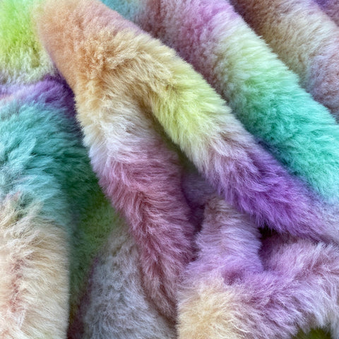 Long Alpaca - Hand Dyed Wild Flowers - Fat 1/4m - SEP044