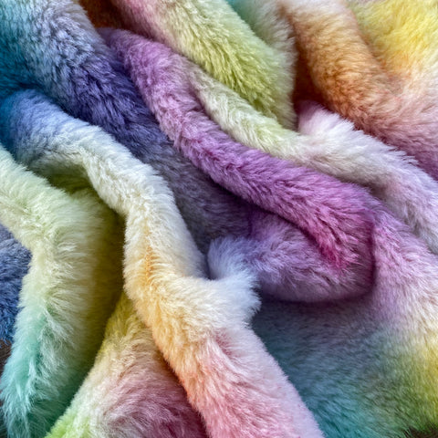 Medium Alpaca  - Hand Dyed Rainbow - Fat 1/4m  - SEP081