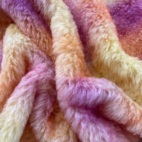 Medium Alpaca  - Hand Dyed Sunset Clouds - Fat 1/8m  - SEP067