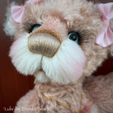 "Lula - 16"" naturally hand-dyed mohair and alpaca Artist Bear by Emma's Bears - OOAK"