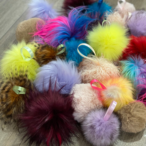 Handmade Faux Fur POMPOMS - LARGE
