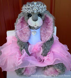 "Penelope Magnolia - 21"" Kid Mohair and Alpaca Toddler Artist BUNNY by Emma's Bears - OOAK"