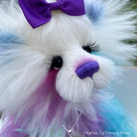 Mythia - 14IN hand dyed mohair bear by Emmas Bears - OOAK