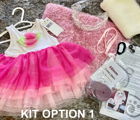 "KIT - 21"" Penelope Grey and Pink Kid Mohair Toddler Bunny"
