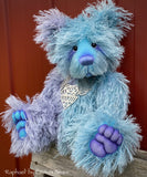 Raphael - 17IN hand dyed string mohair bear by Emmas Bears - OOAK