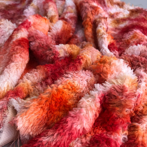 Long Viscose - Hand Dyed Crushed Cranberry - Fat 1/4m - OCT045