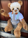 Toddler Bodhi Declan - 21in hand dyed MOHAIR Artist toddler style Panda Bear by Emmas Bears - OOAK