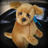 Goldie Pup - 8IN mohair puppy soft sculpture by Emmas Bears - OOAK