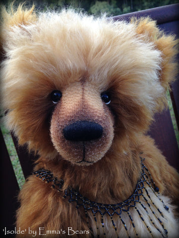 Isolde - 21IN mohair bear by Emmas Bears - OOAK