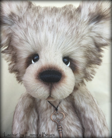 "Lachie - 17"" skinny faux fur bear by Emmas Bears - OOAK"