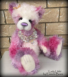 Lady Lilith - 22IN hand dyed mohair and alpaca bear by Emmas Bears - OOAK