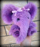Lola - 9in lilac alpaca ELEPHANT Artist Bear by Emmas Bears